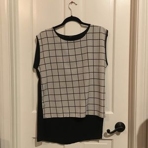 Forever 21 Black and White Grid Shirt
